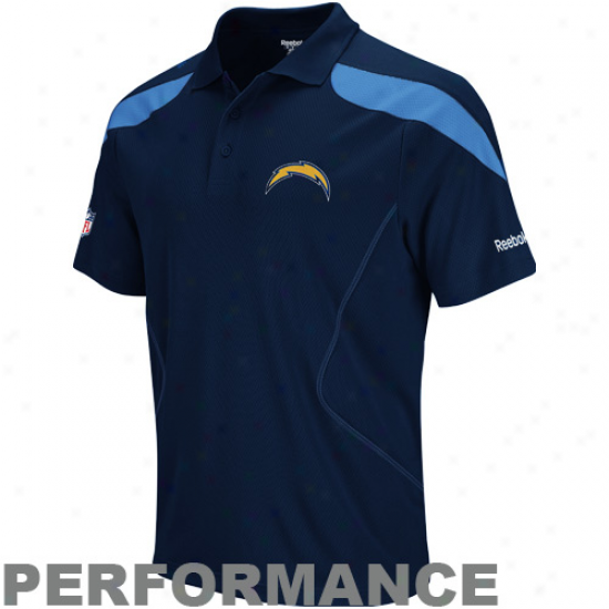 Reeobk San Diego Chargers Navy Blue-light Blue Sideline Team Playing Polo