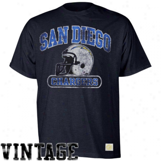 Reebok San Diego Chargers Showboat Heathered T-shirt - Navy Blue