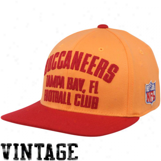 Reebok Tampa Bay Buccaneers Orange Glaze-red Football Club Vintage Flex Hat