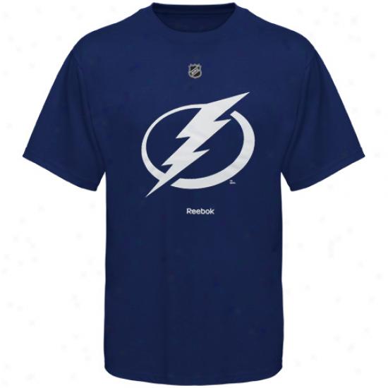 Reebok Tampa Bay Lightning Primary Logo T-shirt - Roya Blue