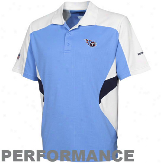 Reebok Tennessee Titans Light Bulr Sideline Stanfout Performance Polo
