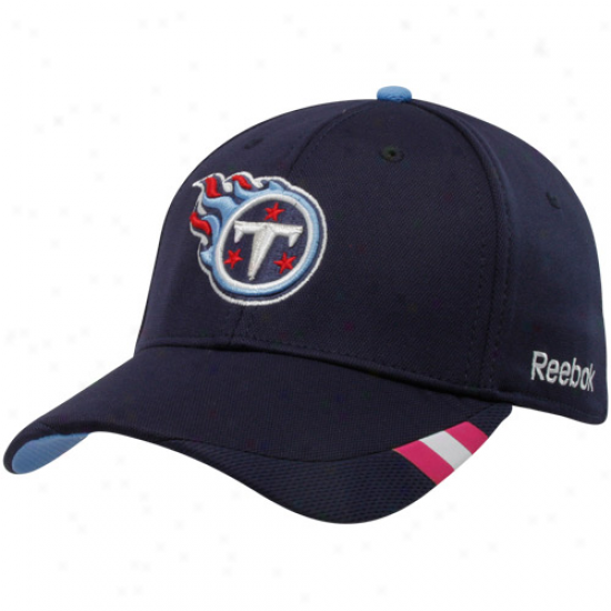 Reebok Tennessee Titans Navy Blue Breast Cancer Awareness Coaches Sideline Flex Hat