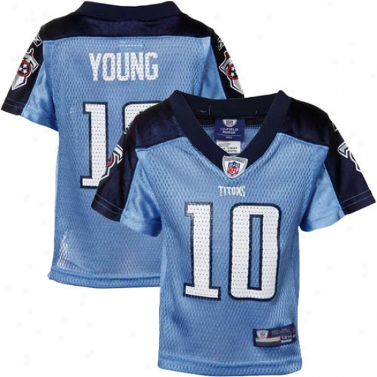Reebok Vince Young Tennessee Titans Infant Replica Jerseh - Light Blue