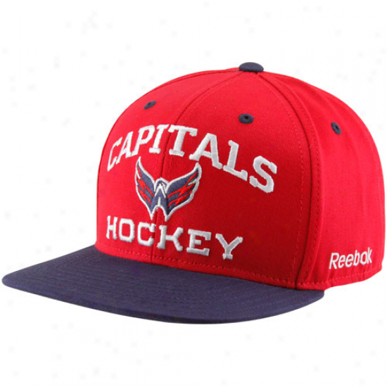 Reebok Washington Capitals Red-navy Blue Authoritative Team Snapback Adjustable Hat