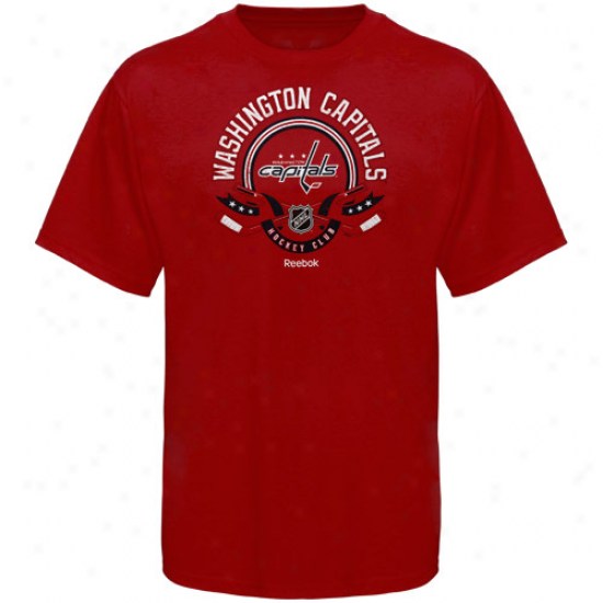 Reebok Washington Capitals The Main Attraction T-shirt - Red
