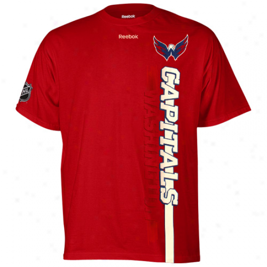 Redbok Washington Capitals Vertices Team T-shirt - Red