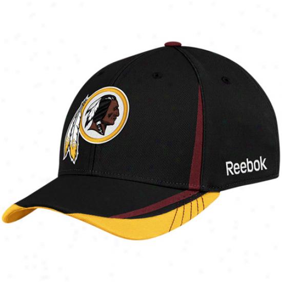 Reebok Washington Redskins Black 2011 Draft Pick Flex Hat
