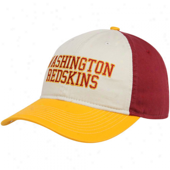 Reebok Washington Redskins Burgundy-gold-cream Wildcard Adjustable Slouch Hat