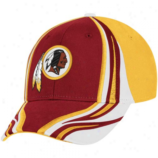 Reebok Washington Redskins Birgundy-gold Inferno Flex Hat