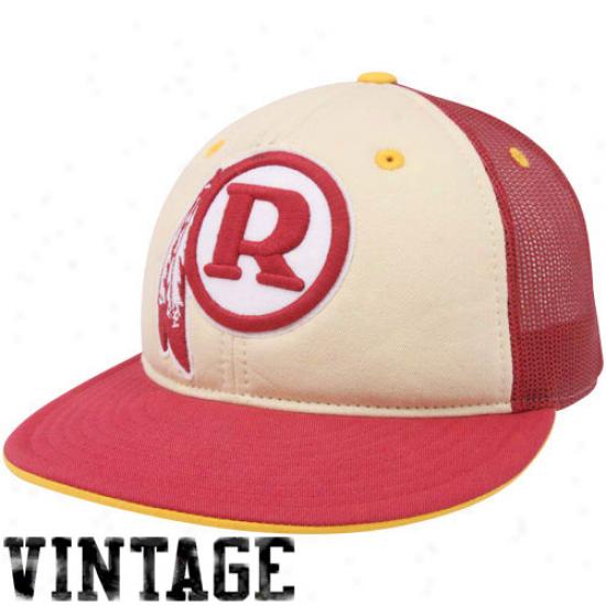 Reebok Washington Redskins Burgundy Time Traveler Throwback Fitted Hat