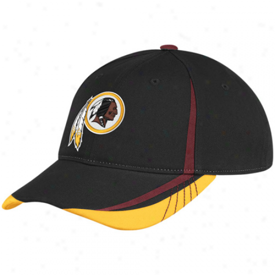 Reebok Washington Redskins Ladies Black 2011 Draft Pick Adjustable Slouch Hat