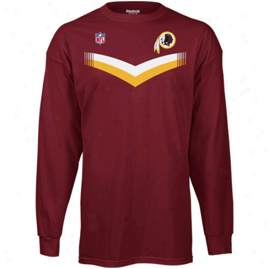 Reebok Washington Redskins T And T Long Sleeve T-shirt - Burgundy