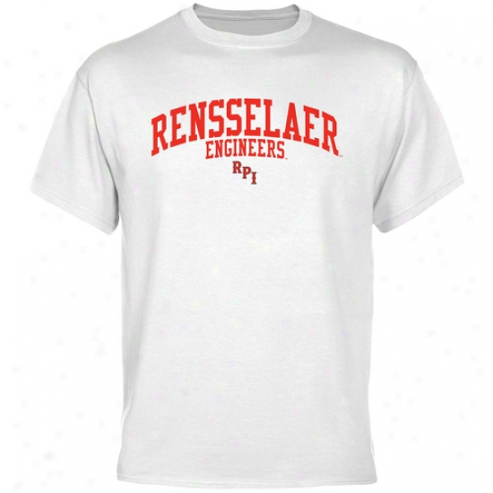 Rensselaer Polytechnic Institute Engineers Team Bend  T-shirt - White