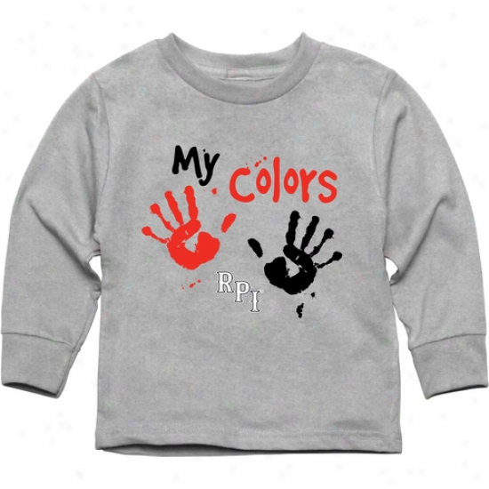 Rensselaer Polytechnic Institute Engineers Toddler My Colors Long Sleeve T-shirt - Ash