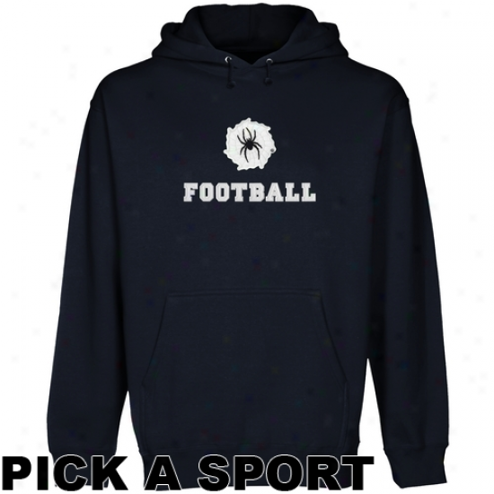 Richmond Spiders Custom Spprt Logo Applique Pullover Hoodie - Navy Blue