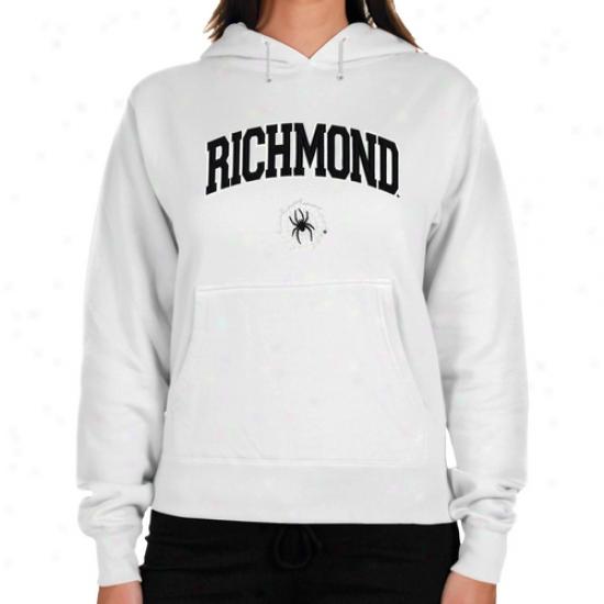 Richmond Spiders Ladies White Loog Arch Applique Lightweight Hoody