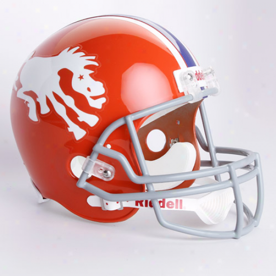 Riddell Denver Broncos Orange 1966 Throwback Replica Full-size Helmet