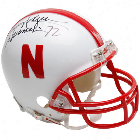 Riddell Nebraska Cornhuskers #20 Johnny Rogers Autographed Mini Autograph copy Helmet