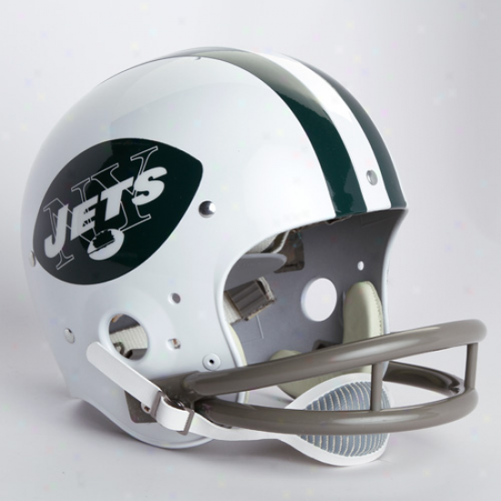 Riddell New York Jets White 1965-1977 Throwback Suspension Full-size Helmet