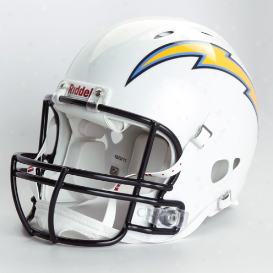 Riddell San Diego Chargers White Revolution Authentic Full-size Helmet