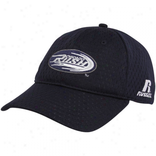 Russell Chicago Rush Navy Blue Mesh Flex Hat