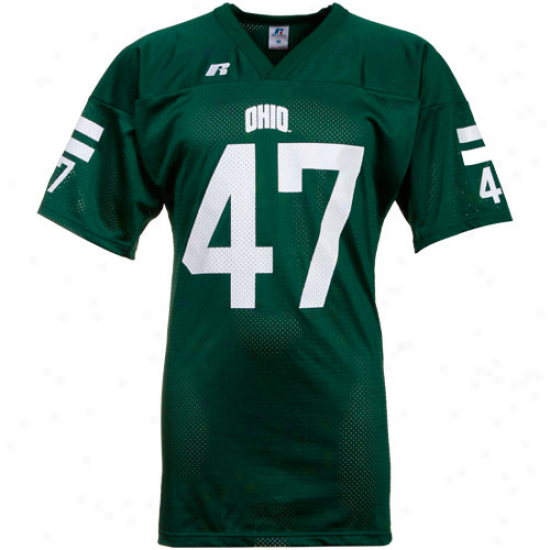 Russell Ohio Bobcats #47 Replica Football Jersey-green