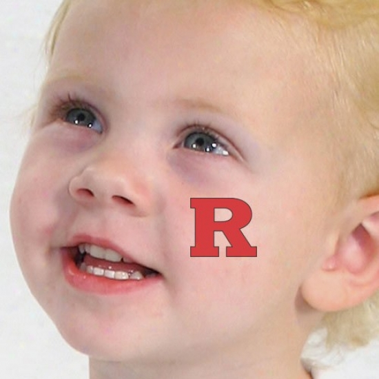 Rutgers Scarlet Knights 4-pack Waterless Temporary Tatt0os