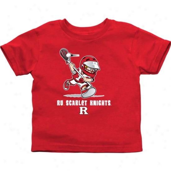 Rutgers Scarlet Knights Infant Boys Lacrosse T-shirt - Scarlet