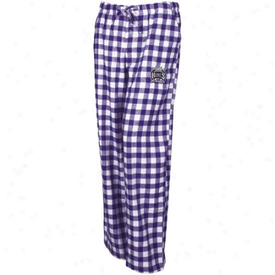 Sacramento Kings Ladies Purple-white Paramount Plaid Pajama Pants