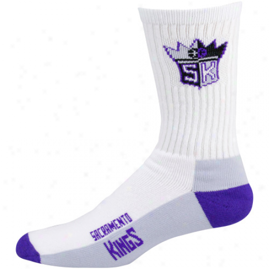Sacramento Kings White Tri-color Team Logl Tall Socks