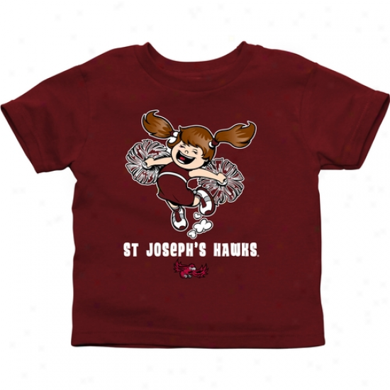 Saint Joseph's Hawks Toddler Cheer Squad T-shirt - Cardinal
