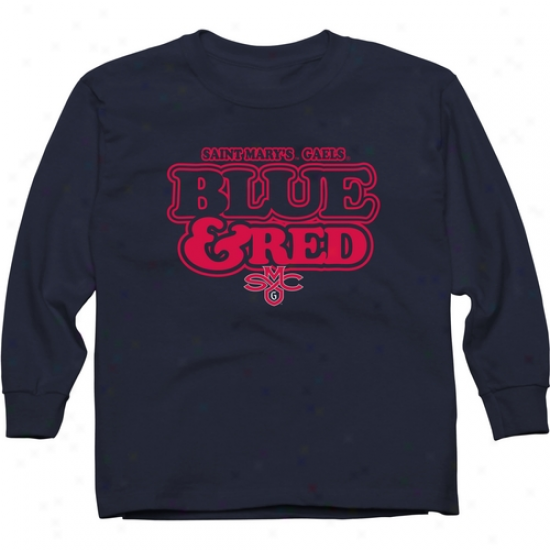Saint Mary's Gaels Youth Our Colors Long Sleeve T-shirt - Navy Blue