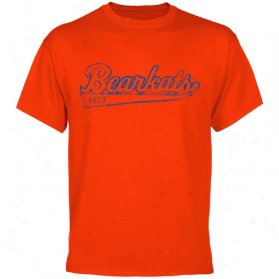Sam Hus5on Rank Bearkats Swept Away T-shirt - Orange