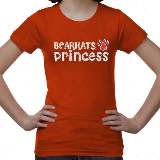 Sam Houstln State Bearkats Ykuth Princess T-shirt - Orange