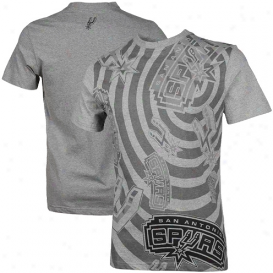 San Antonio Spurs Checker T-shirt - Gray-haired