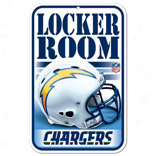 San Diego Chargers 11'' X 17'' Locker Room Sign