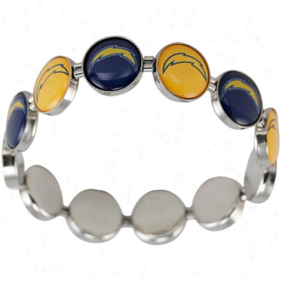 San Diego Chargers Enamel Charm Beaded Bracelet