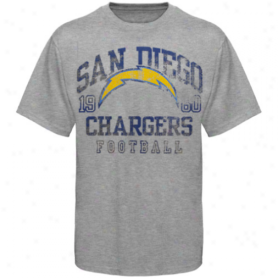 San Diego Chargers Hall Of Famer Gamer T-shirt - Ash