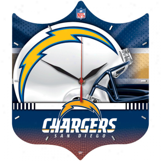San Diego Chargers Hi-def Wall Clock