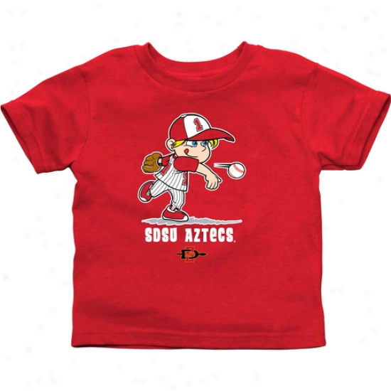 San Diego State Aztecs Toddler Boys Baseball T-shirt - Red