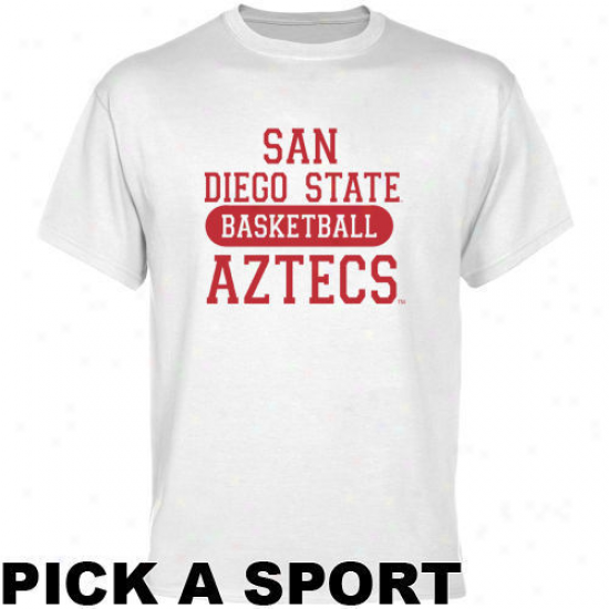 San Diego State Aztecs White Custom Sport T-shirt -