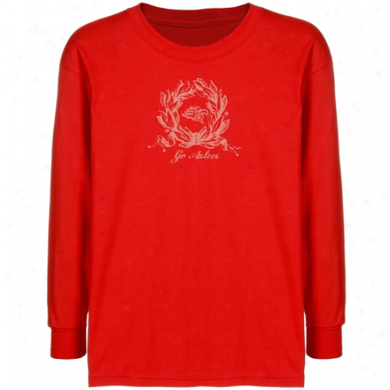 San Diego State Aztecs Youth Red Wreath T-shirt