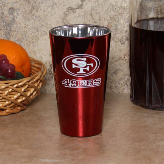 San Francisco 49erw 16oz. Lusterware Pint Glass