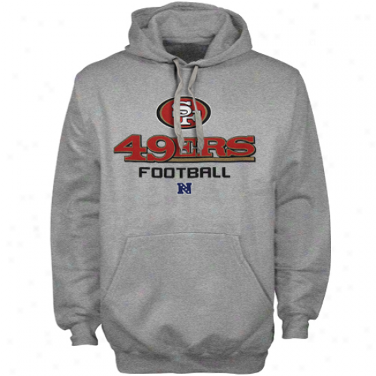 San Francico 49ers Ash Critical Victory V Pullover Hoodie Sweatshirt