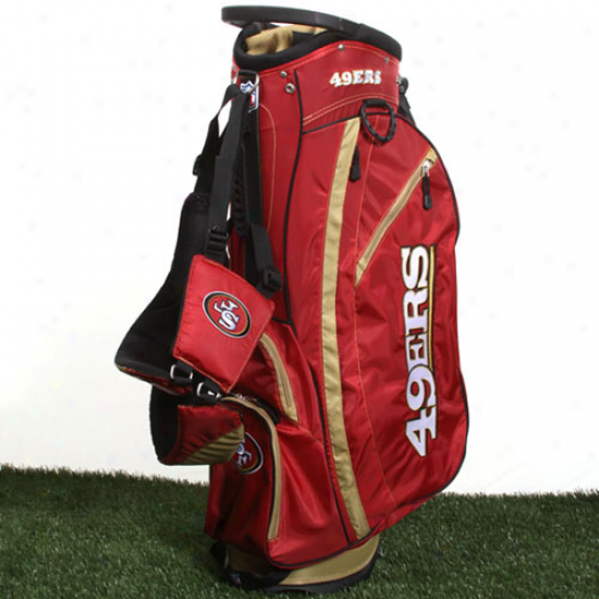 San Francisco 49ers Cardinal-gold Fairway Stand Golf Bag