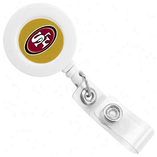 San Francisco 49ers White Badge Reel