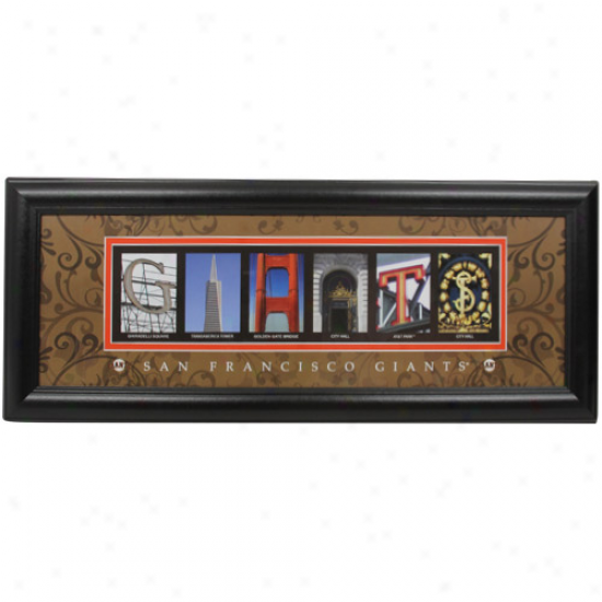 San Francisco Giants 8'' X 20'' Framed Letter Art