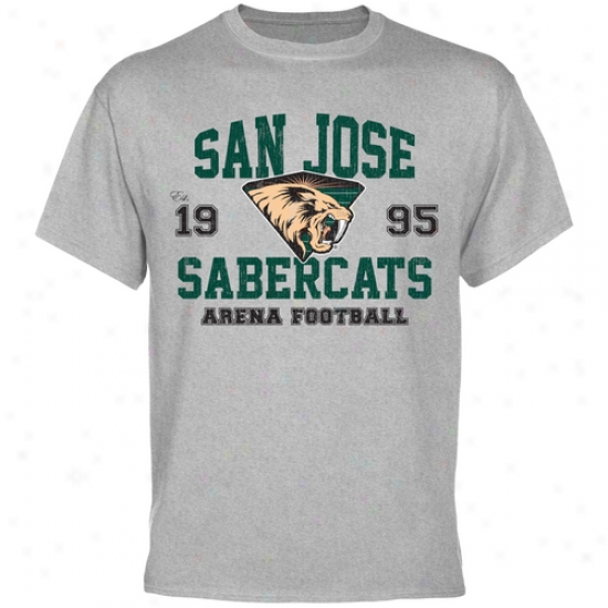 San Jose Sabercats Established T-shirt - Ash