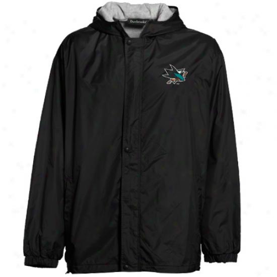 San Jose Sharks Black Legacy Full Zip Hoodie Jacket