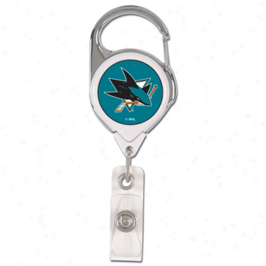 San Jose Sbarks Reward Metal Badge Reel